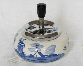 Delft Blue Hand Painted Ashtray - made in Holland