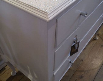 SOLD - Amazing and unique White Chest of Drawers.