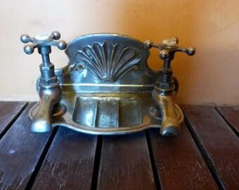 Antique Taps, Metal Chrome Taps, French Boudoir, Bathroom Taps, Chaude/Froide, Soap Dish