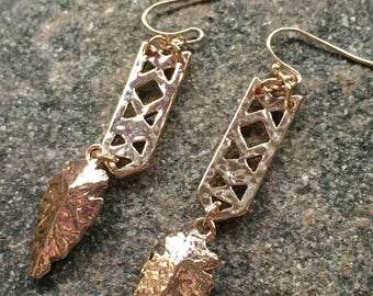 Arrowhead dangle earrings