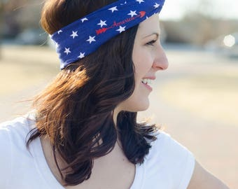 4th of July Headband - Red White and Blue Headband - Patriotic Gifts - America Headband - Memorial Day Headband - Patriotic Turban Headband