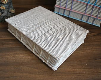A5 Handmade Paper Journal Notebook - String Cover