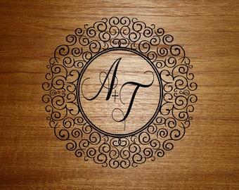 Wedding Monogram - Monogram - Dance Floor Decal - Dance Floor - Personalized - Wedding - Wedding Floor Decal - Wedding Decor, Monogram Decal