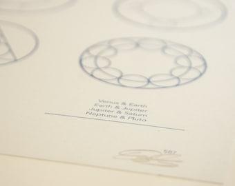 Planet Orbits Print