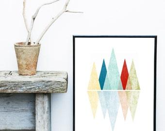 Triangle Print, Printable Art, Geometric Art print, Scandinavian Design, Geometric Art, Minimalist Art, Abstract Wall Art, Art Poster