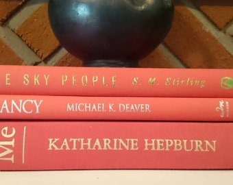 Collection of Three Red books/Wedding Decor /Decorations/ Photo Shoot Props