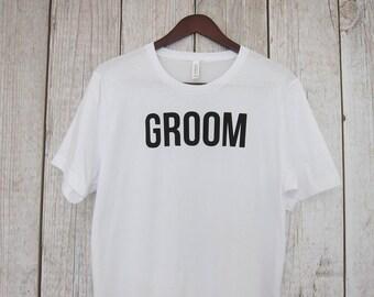 Groom Bachelor Party Shirts Bachelor Party Tshirt Men's Bachelor Party Shirt White Groom Shirts Men's Groom Shirt Black Groom Shirt RHI