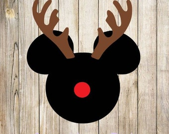 Mickey Deer, Mickey Christmas SVG design INSTANT DOWNLOAD