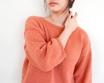 3/4 Sleeve Baggy Sweater