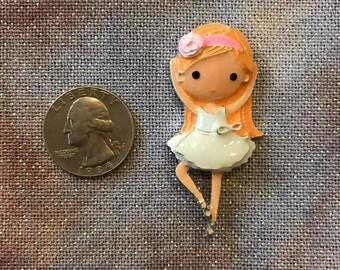 Beautiful Blonde Ballerina Needleminder (minder, keeper, magnet, pin)