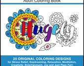 Donald Trump Book - PRINTED BOOK - Trump Book - 25 Original Coloring Designs for Stress Relief & Relaxation