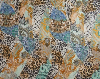 "Designer Fabric, Animal Print, Craft Fabric, Dress Material, Cotton Fabric, Home Decor, Quilting Fabic, 43"" Inch Fabric By The Yard ZBC7019C"