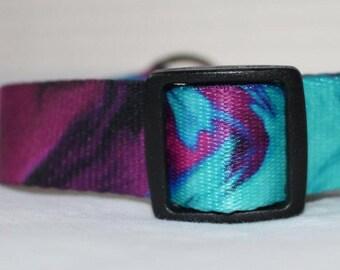 """Tie Dye  Dog Collar - Side Release Buckle (1"""" Width)"""
