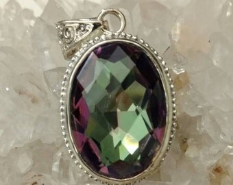 Mystic Topaz Pendant Necklace