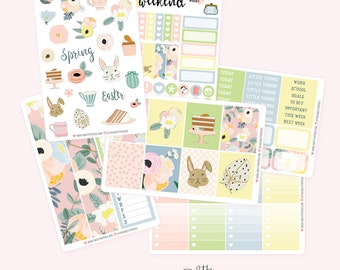 EASTER Planner Sticker Set | Fits ECLP or Classic Happy Planner