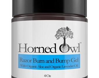 Razor Burn Gel for Eliminating Razor Bumps from Shaving Use for Face Legs & Under Arm. Natural Non Irritating. Organic Aloe Vera , Lavender