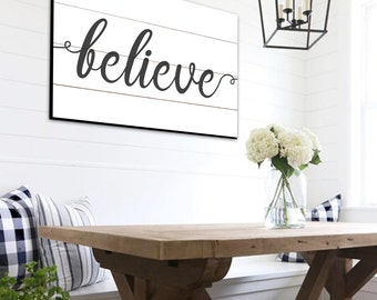 Believe Shiplap Sign Farmhouse Wall Decor Rustic Home Decor Shiplap Home Decor Scripture Signs Bible Verse Signs Rustic Farmhouse Decor