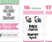 Munchkins - Pack Orders and Mail Hand-Lettered Girl Boss Planner Stickers (M278)
