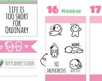 Munchkins - No, No, Nooo Planner Stickers (M241)