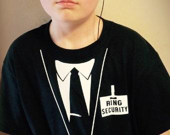 "RING BEARER Tee -  ""Ring Security"" Shirt -  Wedding Gift  ID 29"