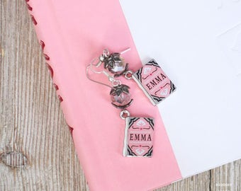 Jane Austen Earrings | Simple Earrings | Book Inspired Jewelry | Dangle and Drop Style