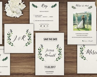 Wedding invitations - model laurels