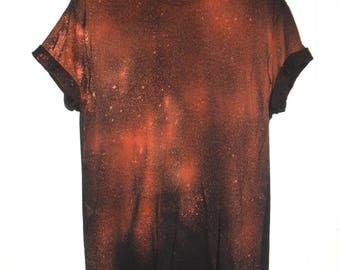 Tie Dye T-Shirt acid wash T-shirt hipster Retro 80s 90s dip dye colors Galaxy splatter men women unisex top