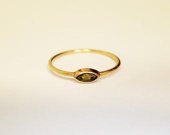 Gold 750 tourmaline ring
