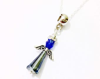 Angel Necklace |  Crystal Angel Necklace | Guardian Angel Necklace | Mothers Gift Idea | Gift for Females | Best Friend Gift | Gift for Mom