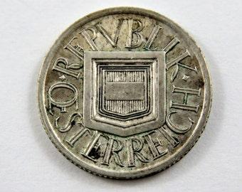 Austria 1926 Silver 1/2 Shilling Coin.