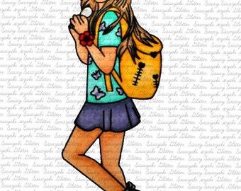 School Day digital Stamp by Sasayaki Glitter