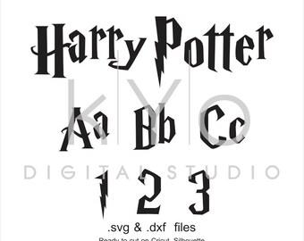 Harry P font cuttable svg files, Potter alphabet svg, Monogram letters, cricut design space, silhouette, svg files, digital font