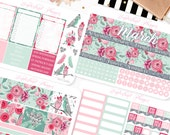 March Monthly View - Floral Themed Planner Sticker Monthly Kit // 145+ Stickers // Perfect for Erin Condren Vertical Life Planner