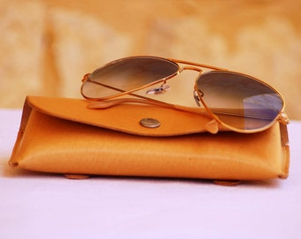 Real calf leather case for Sunglasses ,Protect your glasses, nice case for gift, leather case for present, case