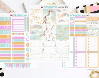 HCP151 Beautiful Unicorns Weekly Set (3 Pages)