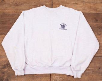 "Mens Vintage Champion Grey Jumper Sweatshirt Large 46"" R5315"