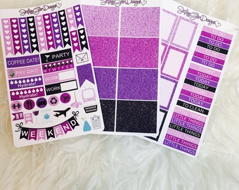 Purple Rain Weekly Sticker Kit | Erin Condren & Plum Paper Planner