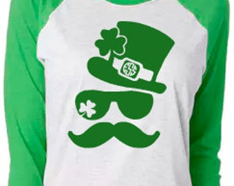 Monogrammed St Patrick's Day Shirt - St Patrick's Day Shirt- My lucky Tee - Shamrocks - Youth and Adult Available
