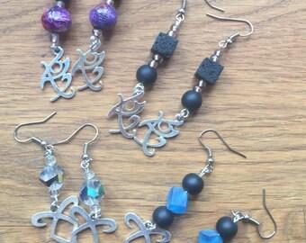 Shadowhunters inspired earrings (various Designs)