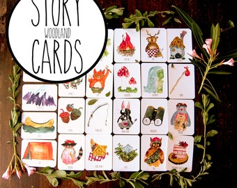 Woodland Story Cards, story cards, story telling, creative writing, family fun,  teachers, imagination, easter, spring, woodland