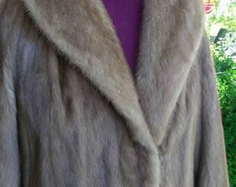 Blond Mink Fur Coat