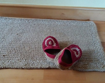 Natural rug Fiber, Rug Crochet, rug Jute, Rug Throw, rug handmade, Scandinavian home decor
