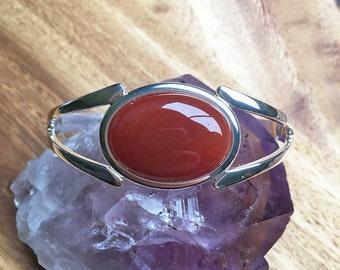 Carnelian Bracelet Carnelian Bangle Carnelian Jewellery Torque Bracelet Womens Bracelet Womens Jewellery For Her Handmade Bracelet SPB26