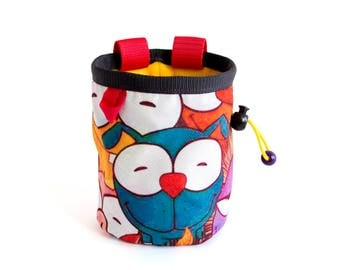 Child Chalk Bag, Children's Chalk Bag. Rock Climbing For Kids Chalkbag, S Size
