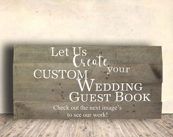 Wedding Guestbook Sign - Wedding Guestbook Wood - Wooden Guestbook - Personalized - Custom - Alternative - Wedding Gift Idea