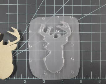 Deer Head Plastic Mold or Silicone Mold, Resin Mold, buck mold, dear mold, head mold, animal mold, zoo mold, hunter mold, soap mold, antlers