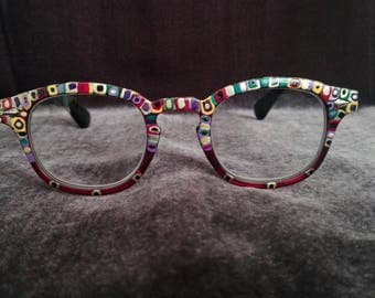 Bordeaux multicolor glasses