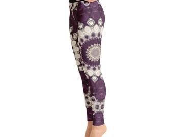 Womens Yoga Leggings - Mandala Yoga Pants, Printed Leggings Pants, Patterned Leggings Soft, Fashion Tights