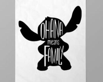 THREE (3) Stitch SVG; ohana means family svg; lilo and stitch; disney SVG