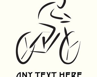 Personalised Bicycle Card